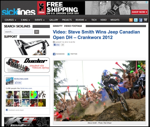 Sick Lines CX Steve Smith Screen Shot